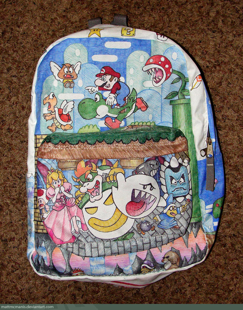 Mario Sharpie-Art Backpack by mattmcmanis