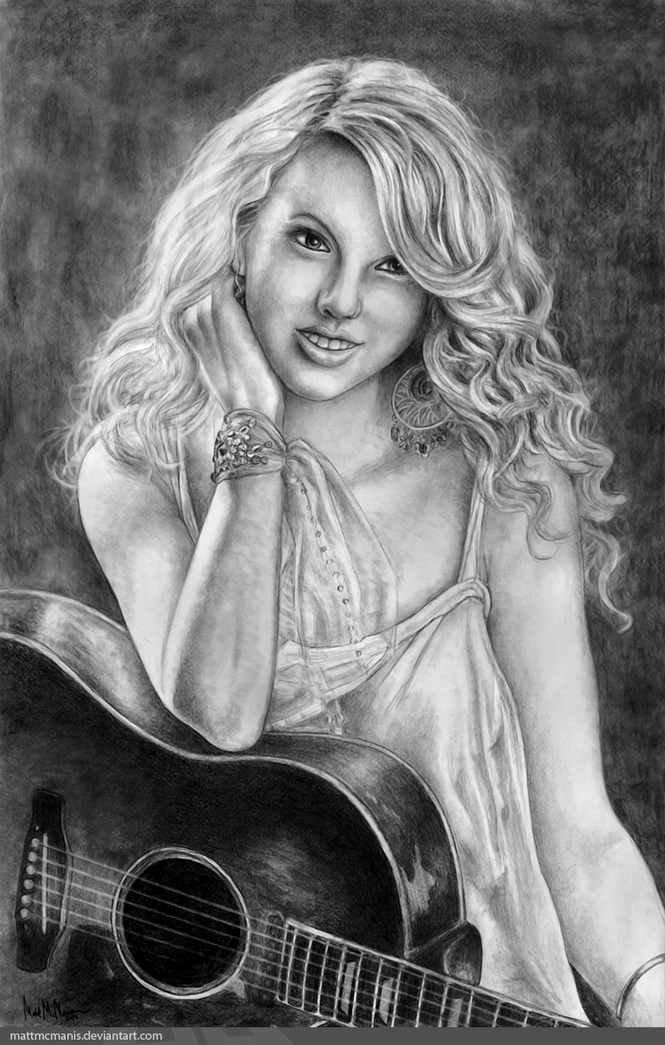 Taylor Swift in Pencil