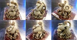Space Octopus Sculpture