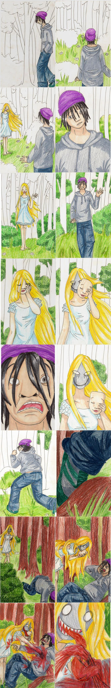 Storyboard with teh character on teh background by Princess-Moni