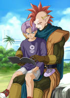 tapion and trunks by oogamishiguma