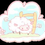 Free sheep button 2 by Mimru
