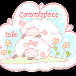 Free sheep button: Commissions info by Mimru