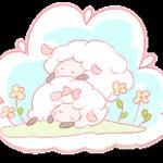 Free sheep button 3 by Mimru