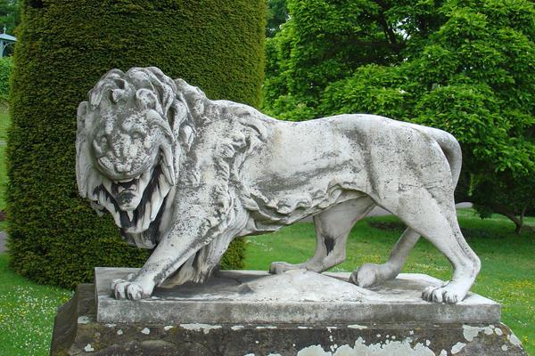lion statue by Jantiff-Stocks