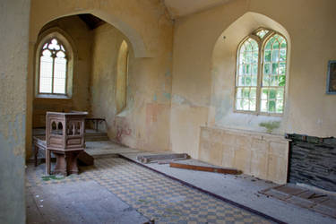 Old Irish Chapel Inner by Jantiff-Stocks