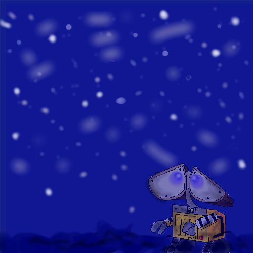 Oekaki: Wall-E Stargazing by LimeTH