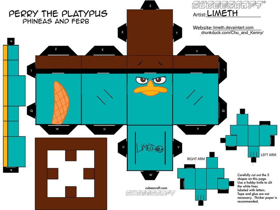 Perry The Platypus Birthday Cake
