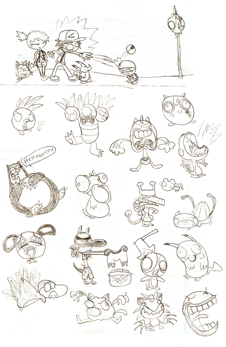 Doodles: Pokeymanz by LimeTH