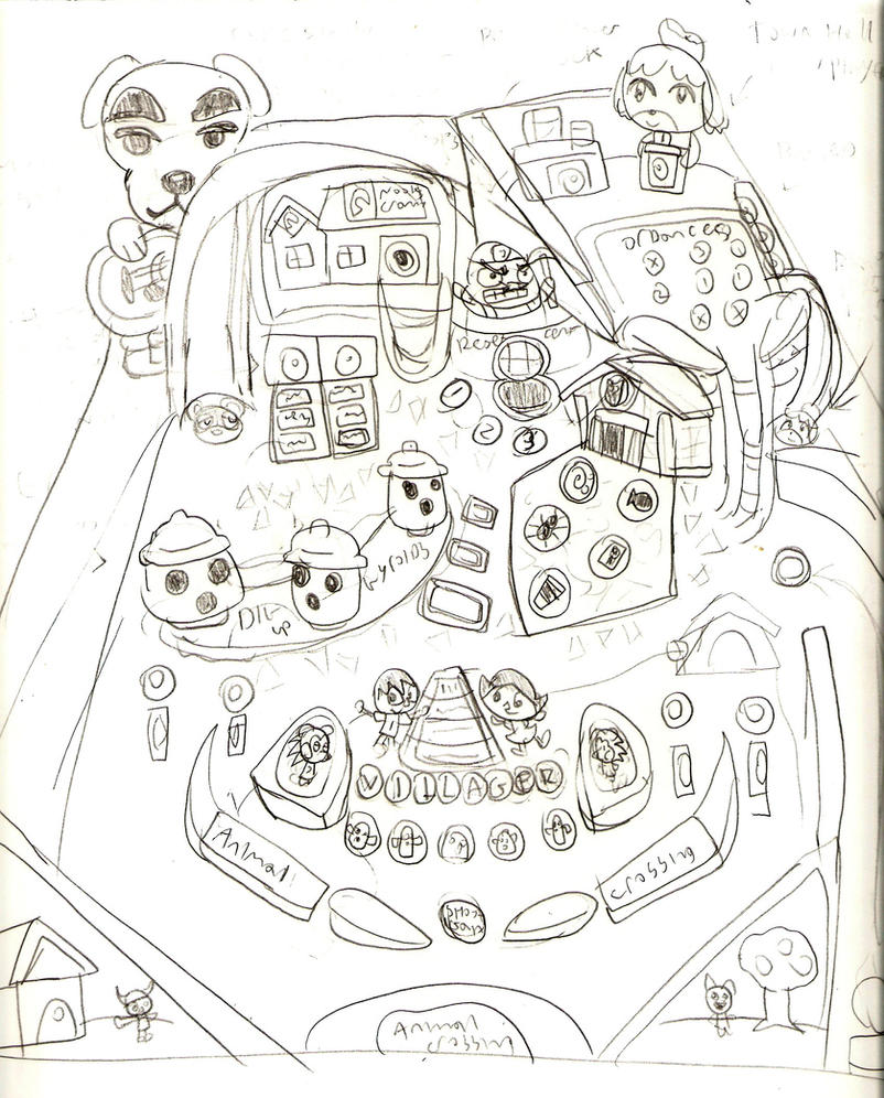 Animal Crossing Pinball concept. by LimeTH