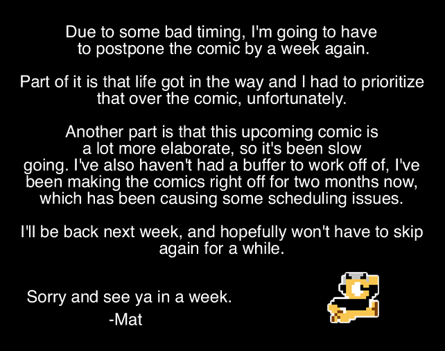 Comic Postponed to Next Week by LimeTH