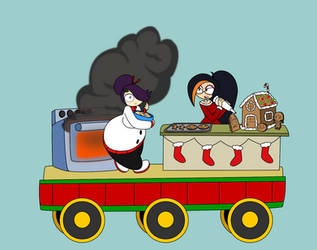 12 Days of Decembermas Train: Kitchen