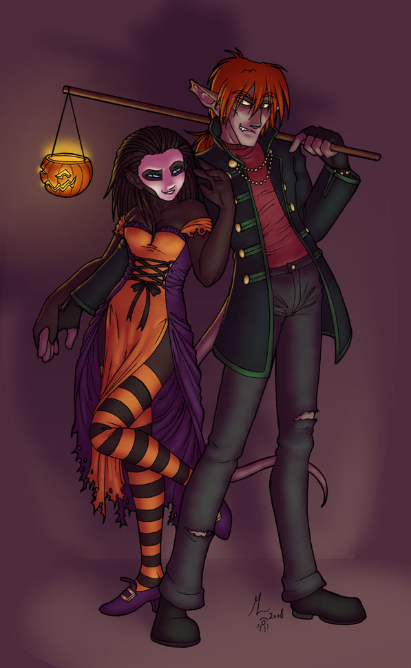 Halloween 2008 by merrypaws