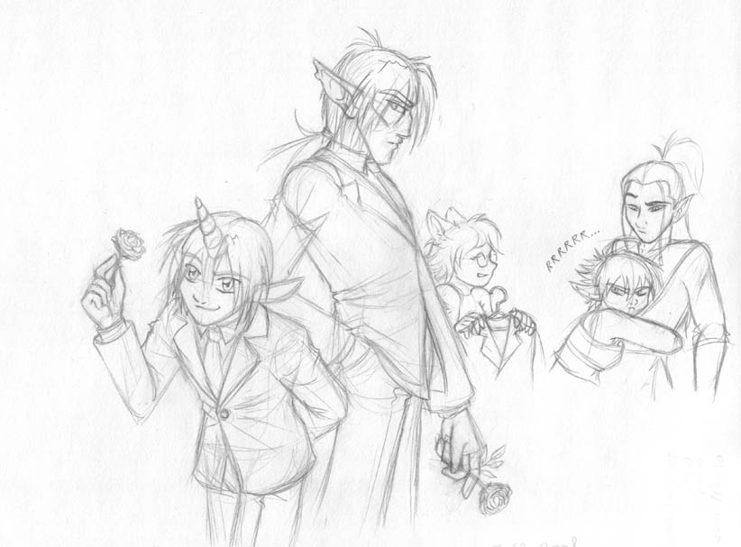 Ouran Cosplay sketch by merrypaws