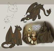 Random Night Fury design by merrypaws