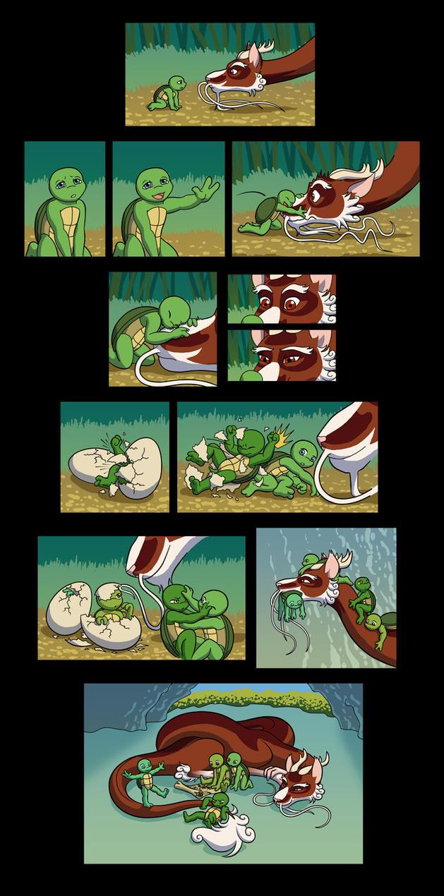 TMNT - Myth AU Origin pg2 by merrypaws