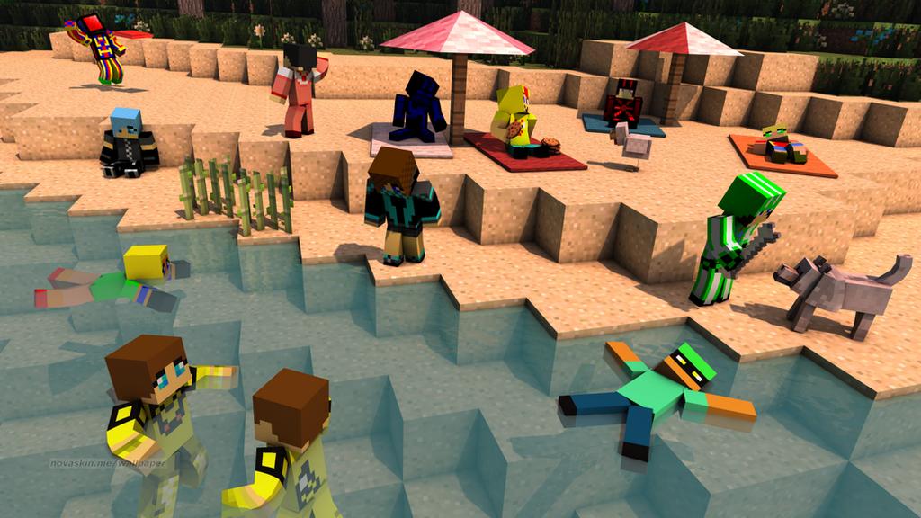 Minecraft Skins Vacation Wallpaperfun In The Sun By Jesusromerox
