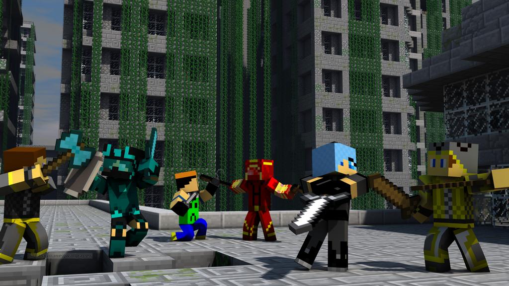Minecraft Skins Battle WallpaperPVP Time By Jesusromerox