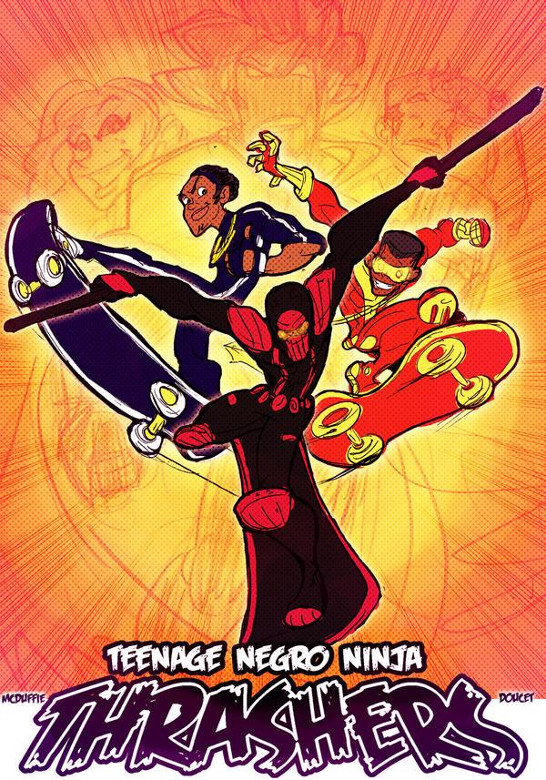 Teenage Negro Ninja Thrashers by kross29