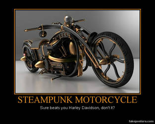 Steampunk Motorcycle by IronboundPimpin