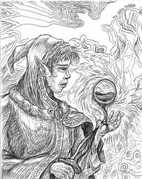 Random drawing 11 - blood magic