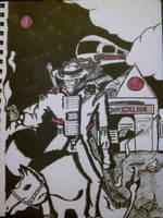 Cyborg Cowboy by argocomics