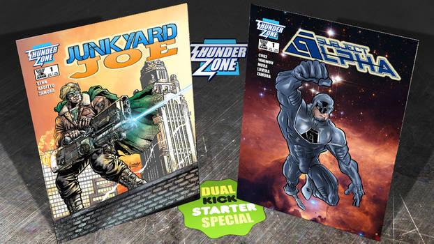 JUNKYARD JOE #1 /SUBJECT ALPHA #1 Dual Kickstarter