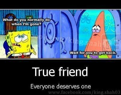 We have a Spongebob+Patrick relationship :) by SterbenEdelweiss