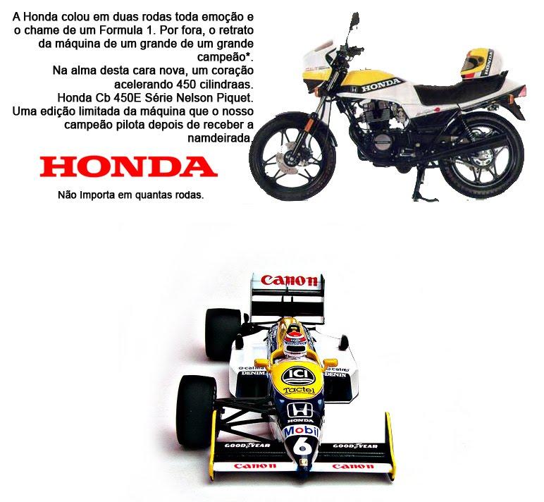 Honda Cb 450 E - Nelson Piquet - Propaganda by JulioCarlo