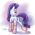 Rarity socks (sketch)