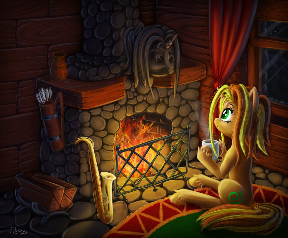 Special fireplace. by SkorpionLetun