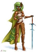 Female warrior by SkorpionLetun