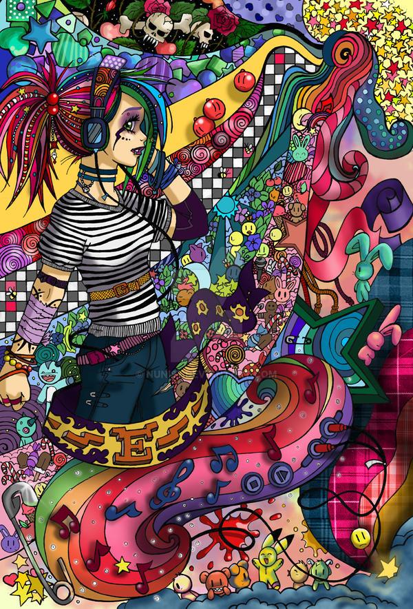 MUSIC and RAINBOW by Nuni87