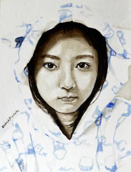 Suzumoto Miyu Keyakizaka46 in Sepia and Blue