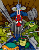 Spidy and The Turtles Colored by yair23