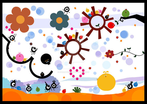 locoroco vs patapon by narrator366