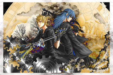 KH fanart  riku and roxas by narrator366