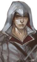 AC2 fan art young Ezio