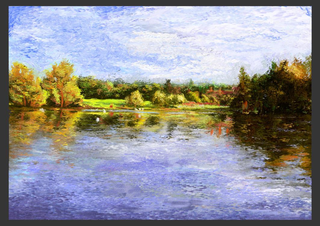 Lake Scene by Burukasai