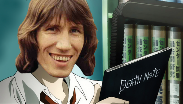 Roger Waters as Light Yagami by Domatogram