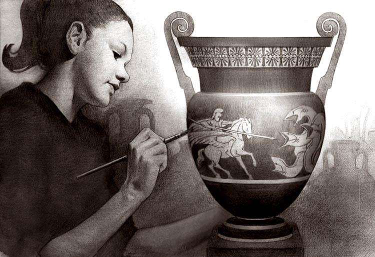 Vase Painter by JeremyLeach