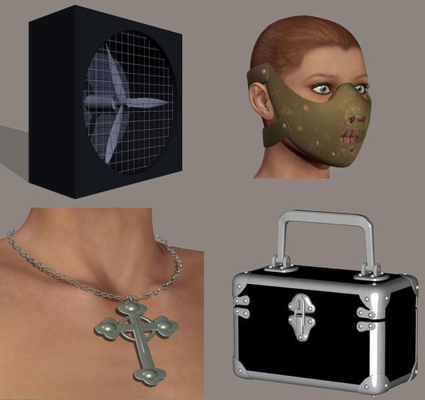 Several 3d models by balaenanun on deviantart for Deviantart 3d models