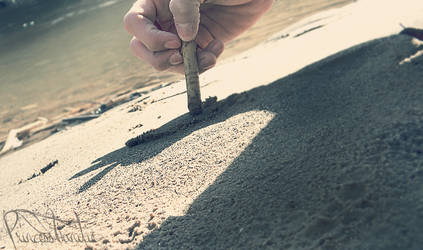 Writing in the Sand by princess-vanitie