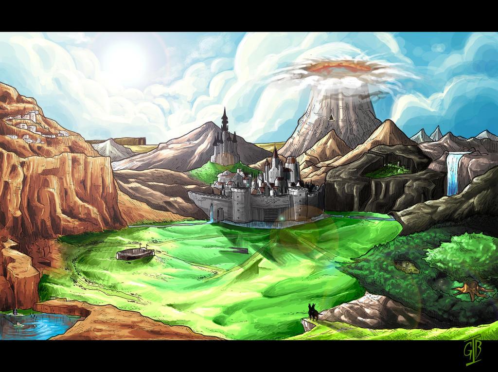 Hyrule - TLoZ Ocarina Of Time by gabirotcho