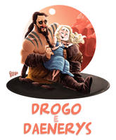 Drogo e Daenerys by gabirotcho