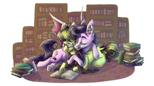 [ Commission ] Some Reading To Do