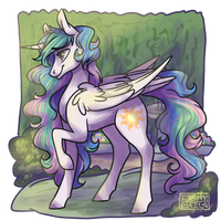 Tia In The Garden by EbonyTails