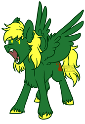 [ Commissions ] Green Wolf