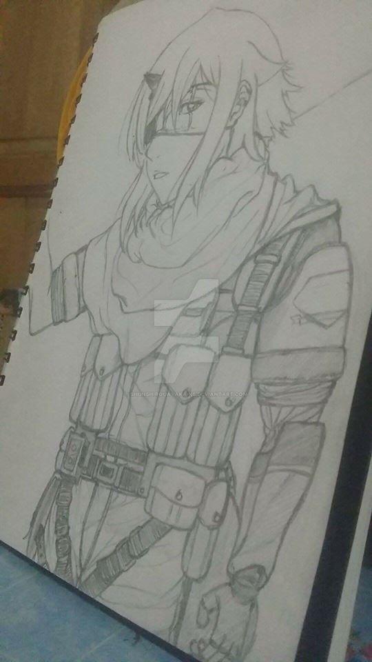 My OC wearing Venom Snake Gear by ShunShirouAyaka-KS