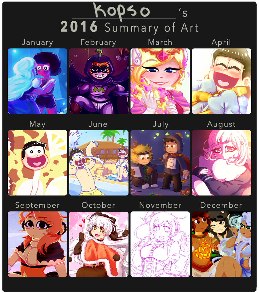 2016 Art Summary by kopso866